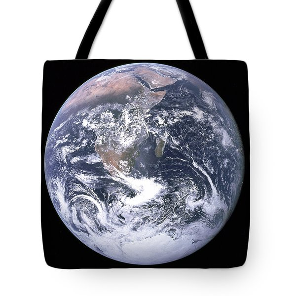 Blue Marble - Image Of The Earth From Apollo 17 Tote Bag