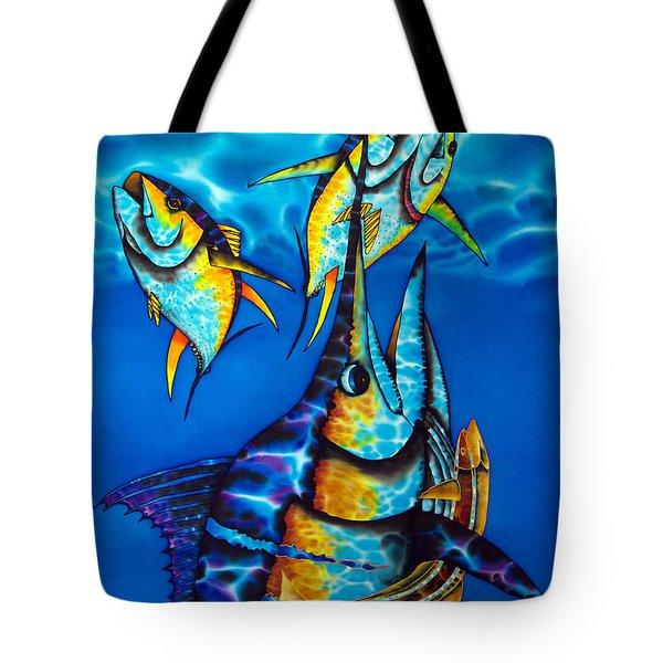 Blue Marlin Tote Bag by Daniel Jean-Baptiste