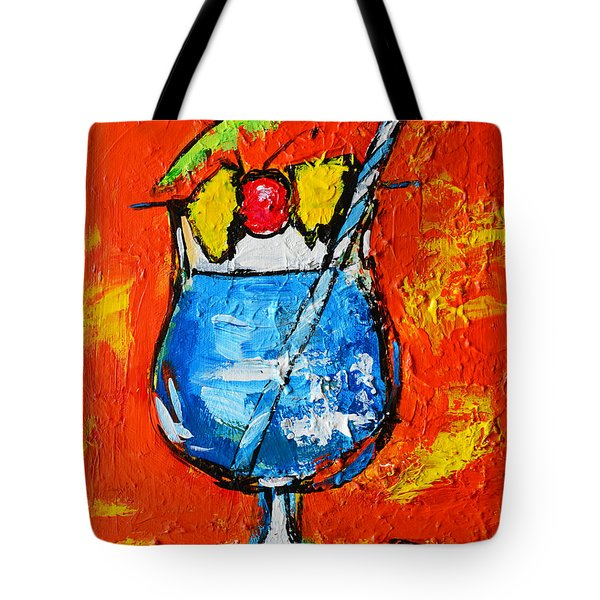 Blue Martini - Hawaiian Style - Tropical Drink Tote Bag