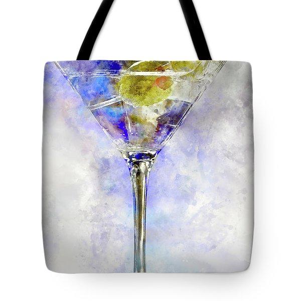 Blue Martini Tote Bag