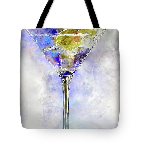 Blue Martini Tote Bag by Jon Neidert