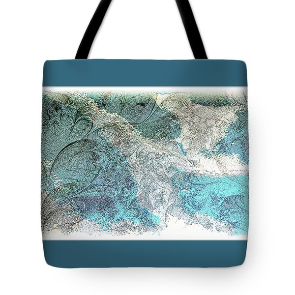 Tote Bag featuring the photograph Blue Maze by Athala Carole Bruckner