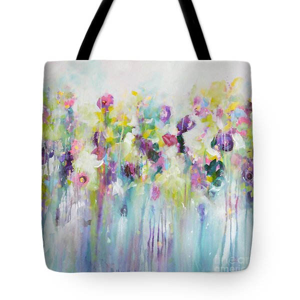 Blue Meadow II Tote Bag