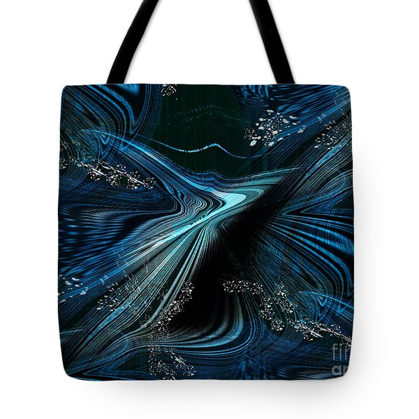 Tote Bag featuring the digital art Blue Meditation by Yul Olaivar