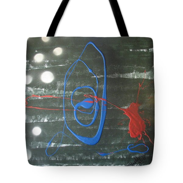 Blue Meets Red Tote Bag