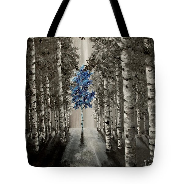 Tote Bag featuring the painting Blue by Melinda Cummings