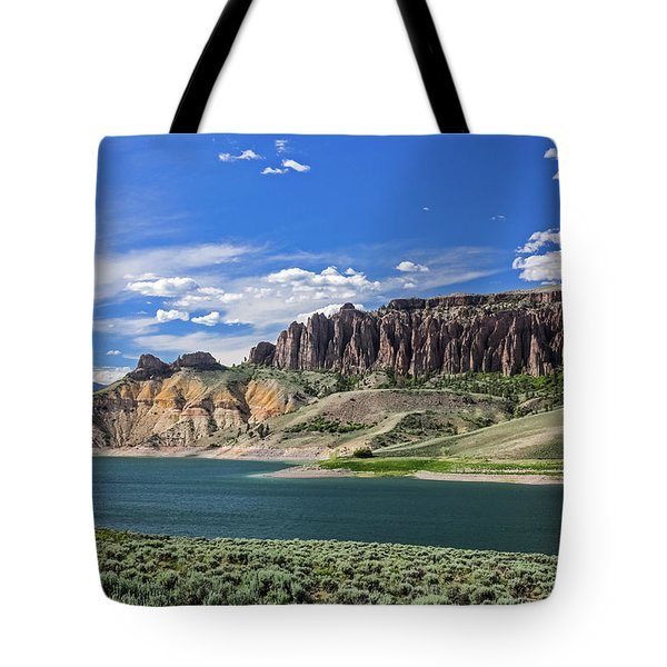 Tote Bag featuring the photograph Blue Mesa Reservoir by Lon Dittrick