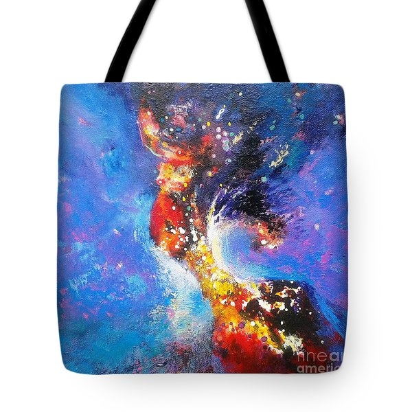 Blue Mirage Tote Bag