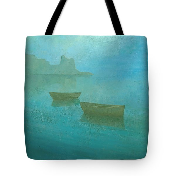 Blue Mist At Erbalunga Tote Bag