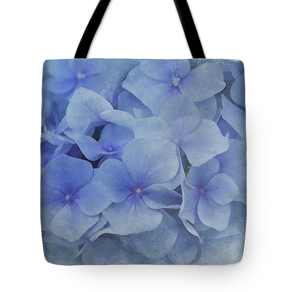 Tote Bag featuring the photograph Blue Moments by Elaine Manley