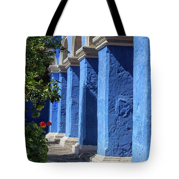 Blue Monastery Tote Bag