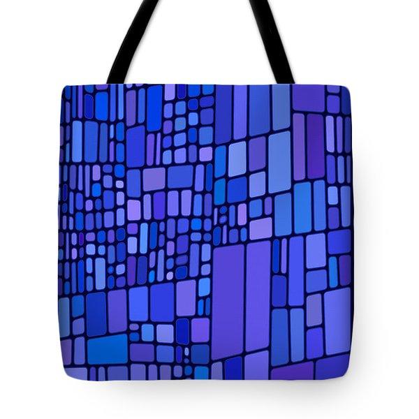 Blue Mondrian Tote Bag