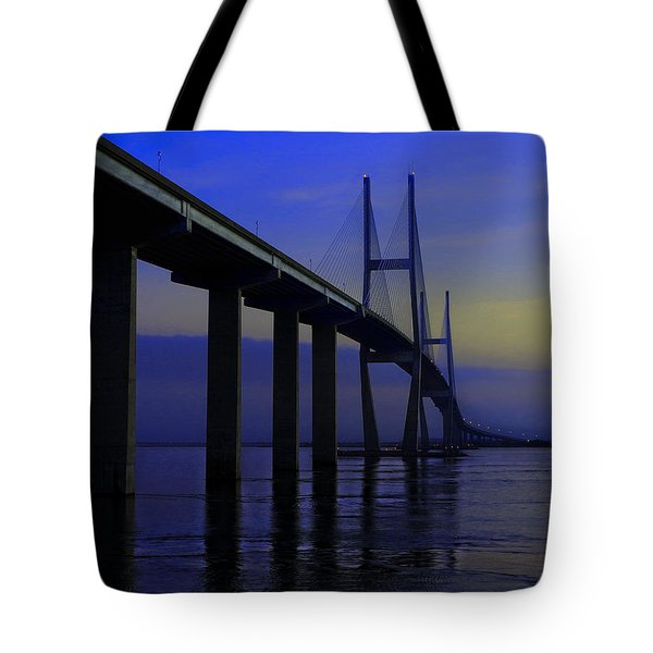 Blue Mood Bridge Tote Bag