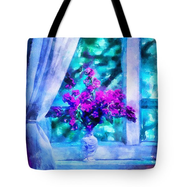 Blue Mood Tote Bag by Shirley Stalter