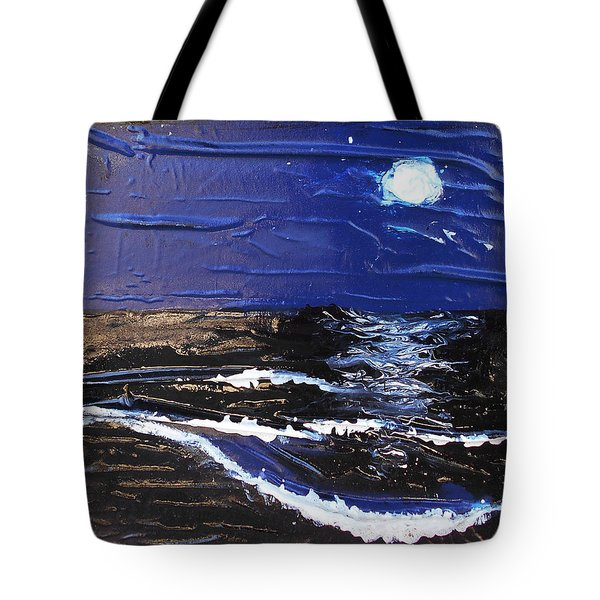 Blue Moon Tote Bag by Angela Stout