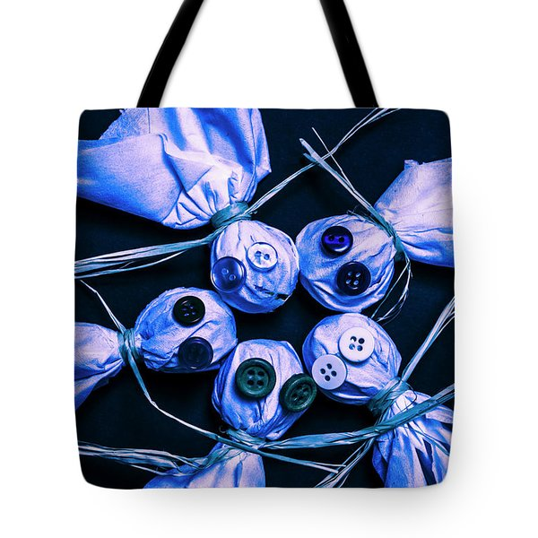 Blue Moon Halloween Scarecrows Tote Bag