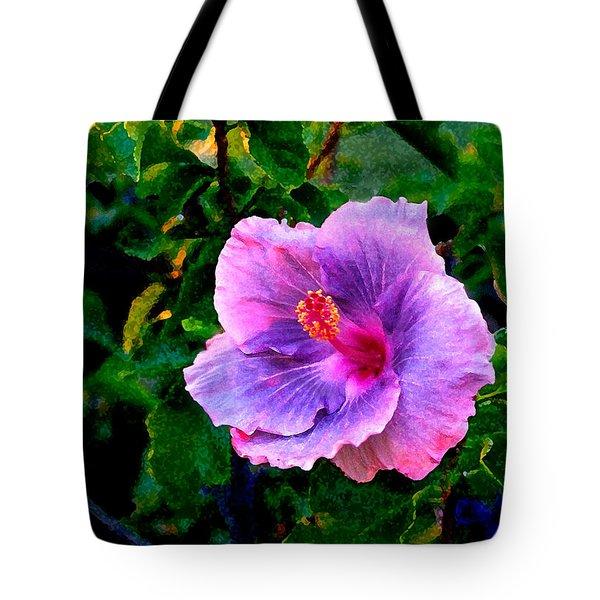 Blue Moon Hibiscus Tote Bag by Steve Karol