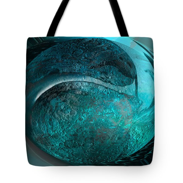 Tote Bag featuring the digital art Blue Moon by Kevin Caudill