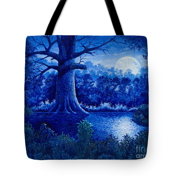 Blue Moon Tote Bag by Michael Frank
