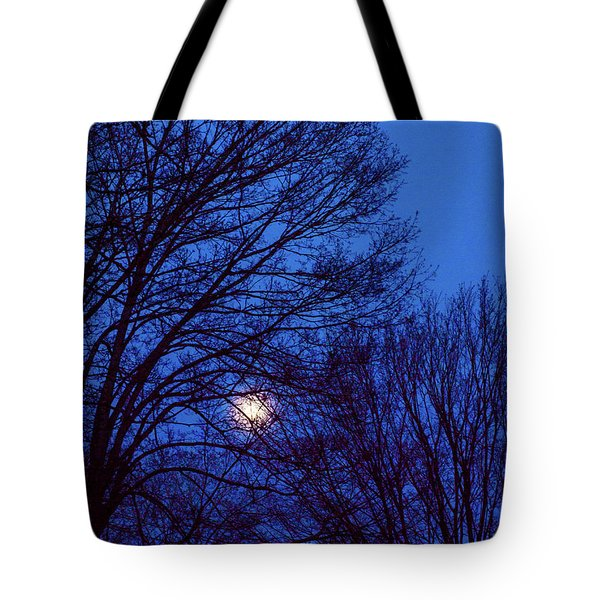 Tote Bag featuring the photograph Blue Moon by Randy Sylvia