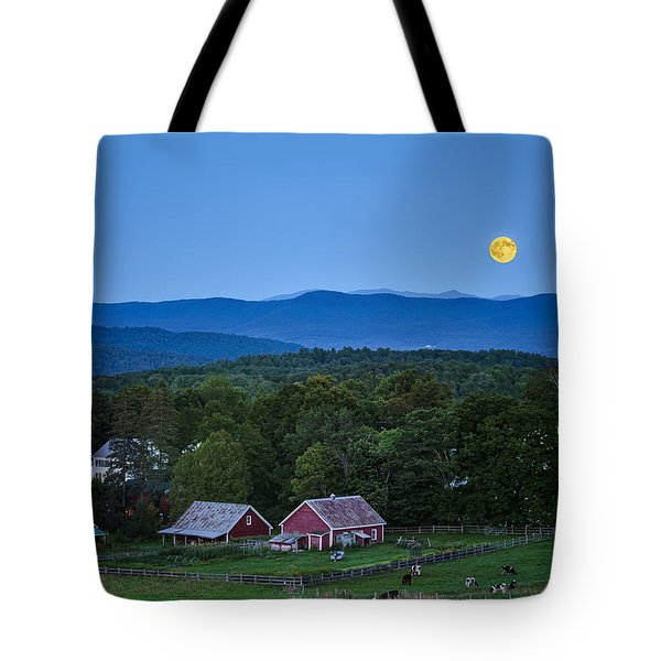 Blue Moon Rising Tote Bag