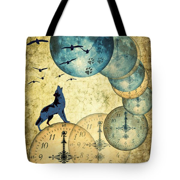 Blue Moon Tote Bag