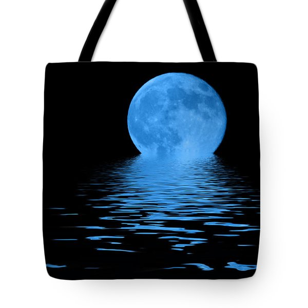 Tote Bag featuring the photograph Blue Moon by Shane Bechler