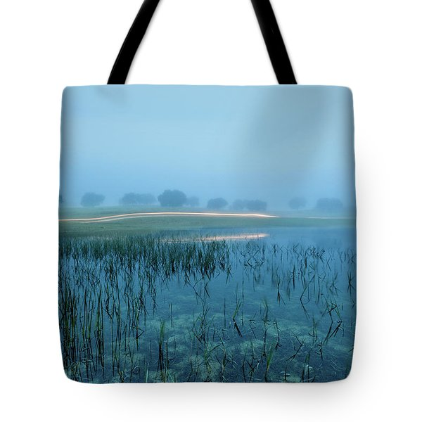 Tote Bag featuring the photograph Blue Morning Flash by Jorge Maia
