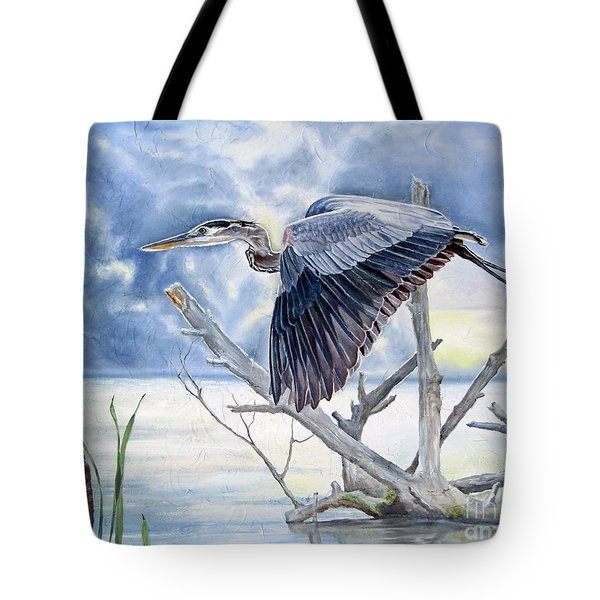 Blue Morning Flight Tote Bag