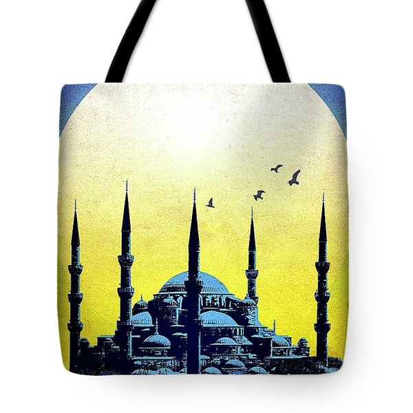 Blue Mosque, Istanbul, Turkey Tote Bag