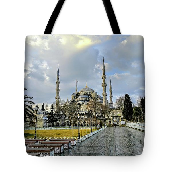 Blue Mosque Tote Bag
