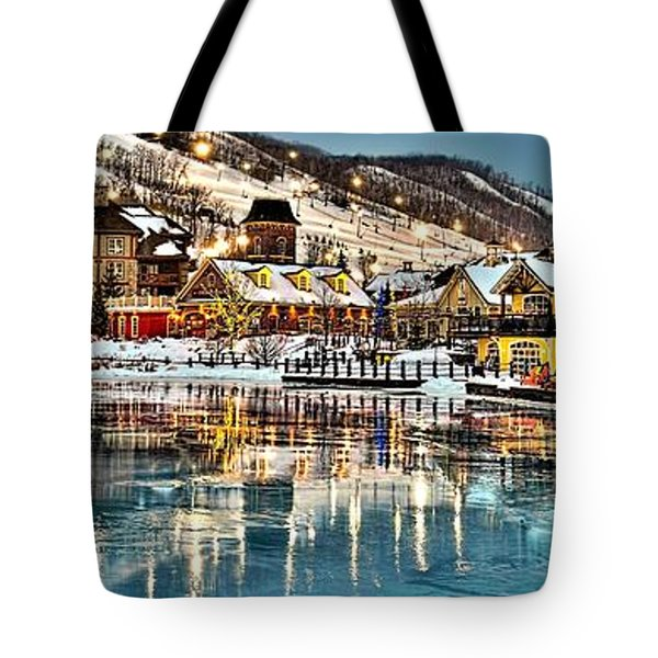 Blue Mountain Ice Reflection Tote Bag