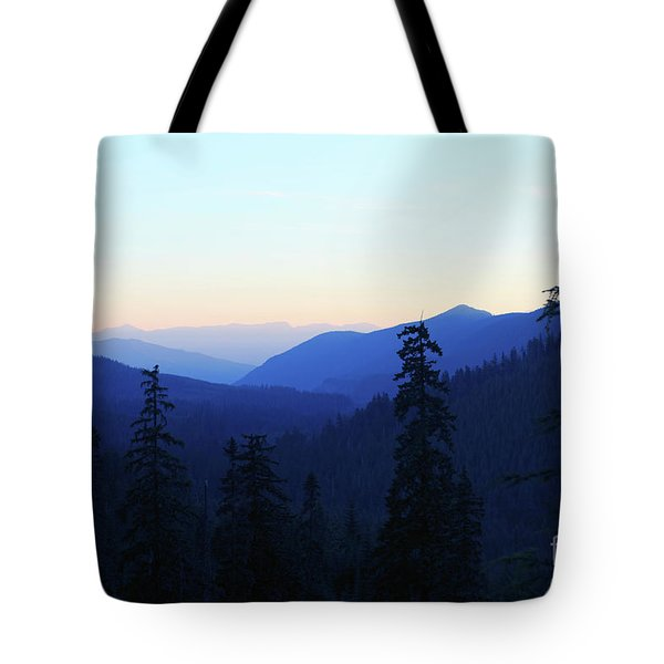 Blue Mountain Layers Tote Bag