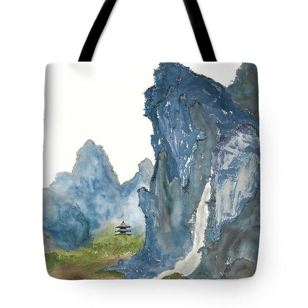 Blue Mountain Morning Tote Bag