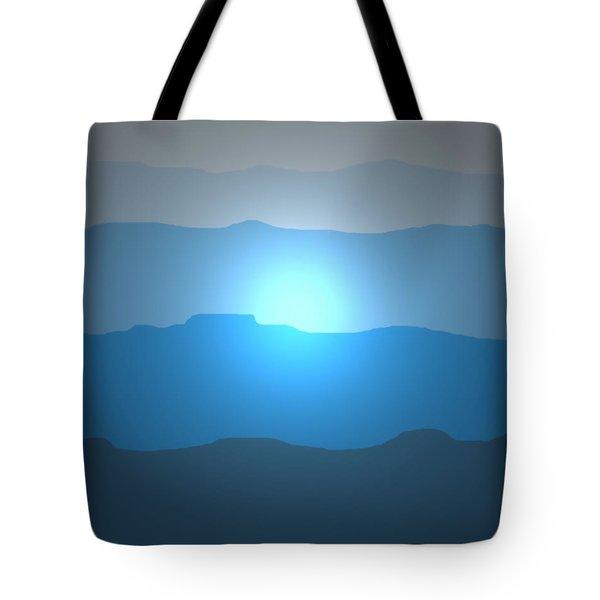 Blue Mountain Sun Tote Bag