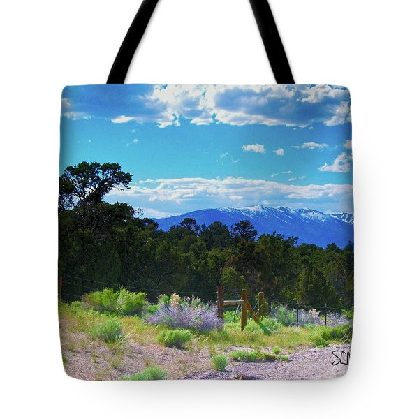 Blue Mountain West Tote Bag