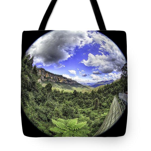 Blue Mountains Fisheye Tote Bag