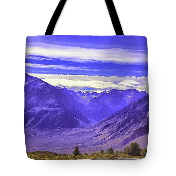Blue Mountains.sierra Nevada Tote Bag
