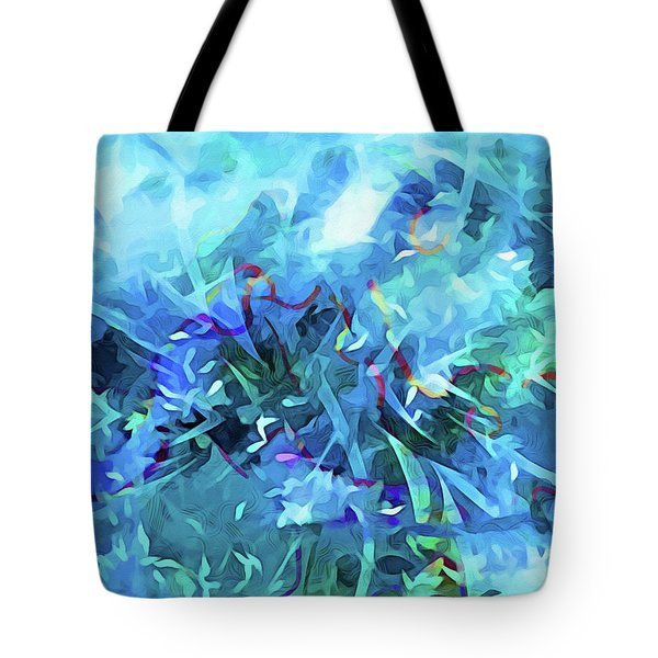 Blue Movement Tote Bag