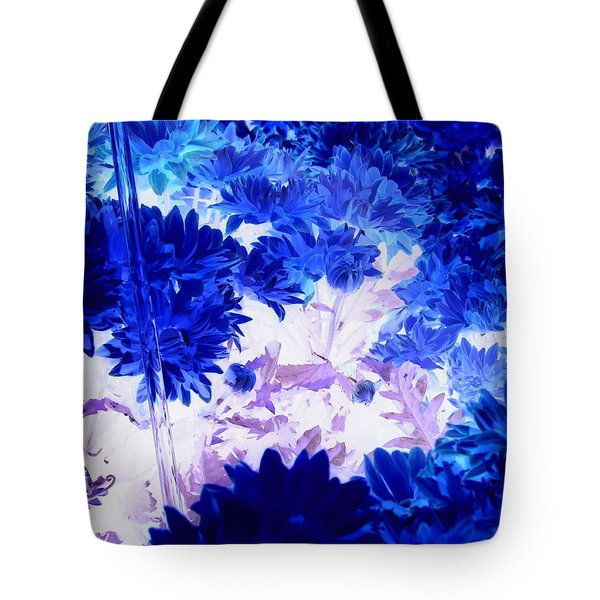 Blue Mums And Water Tote Bag