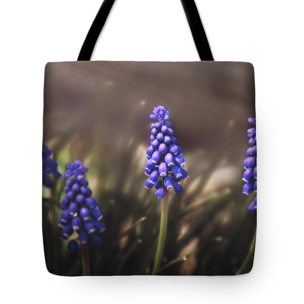 Blue Muscari Tote Bag by Eduard Moldoveanu