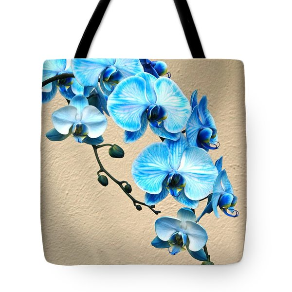 Blue Mystique Orchid Tote Bag