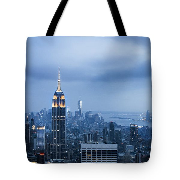 Blue New York Tote Bag