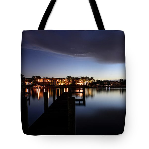 Tote Bag featuring the photograph Blue Night by Laura Fasulo