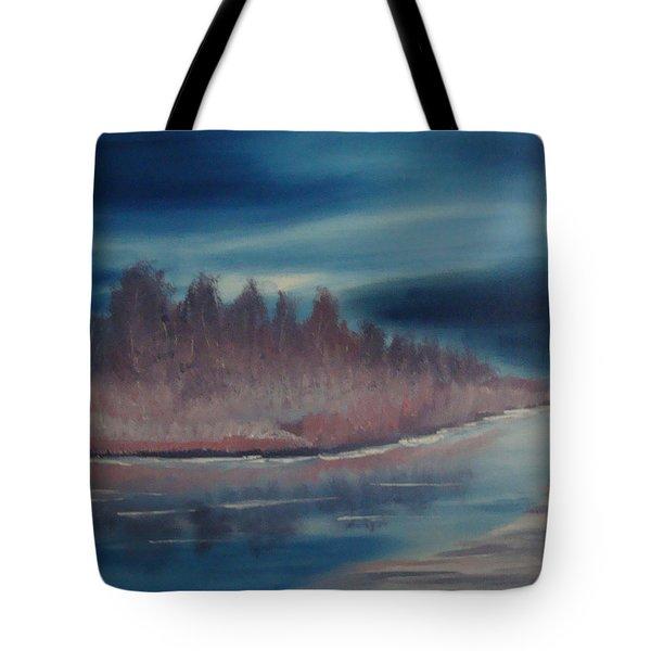 Blue Nightfall Evening Tote Bag by Rod Jellison