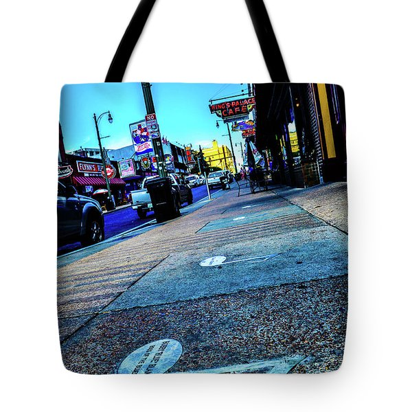 Blue Notes On Beale Tote Bag