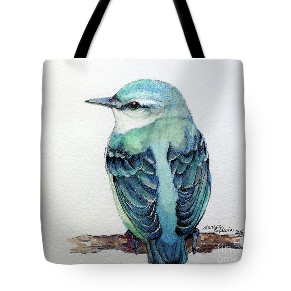 Blue Nuthatch Tote Bag by Marcia Baldwin