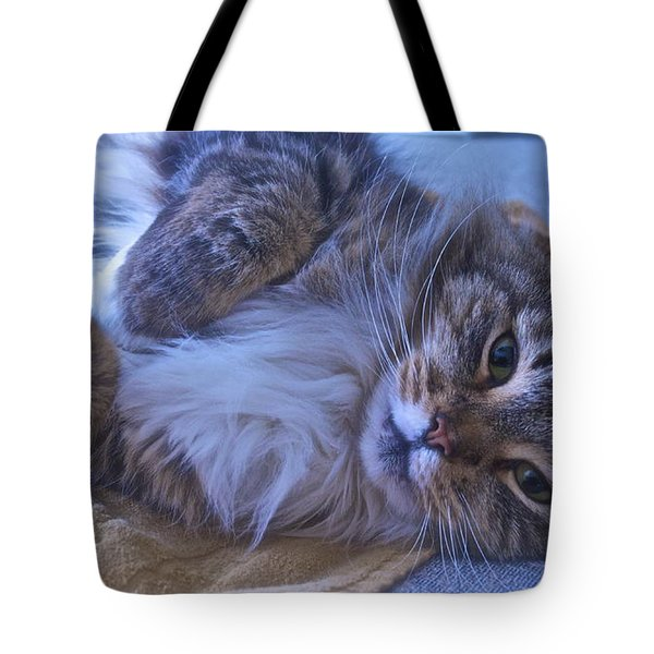 Blue Oblivion Tote Bag