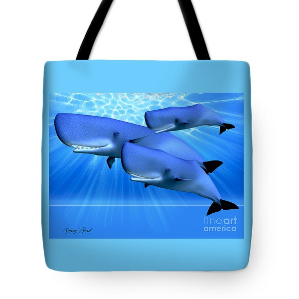 Blue Ocean Tote Bag by Corey Ford