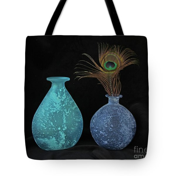 Blue On Black Tote Bag